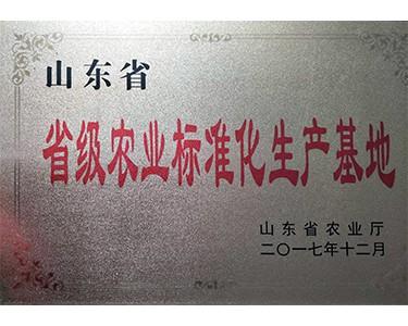 山东省省级农业标准化生产基地