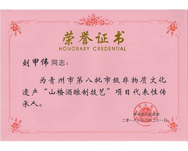 非物质文化遗产传承人(刘甲伟)